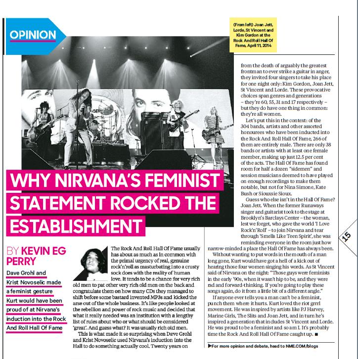 Kurt Cobain Feminist in 2019 | Music bands, Kurt cobain ...  |Nirvana Feminism