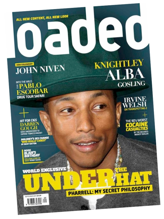 Pharrell cover feature for Loaded