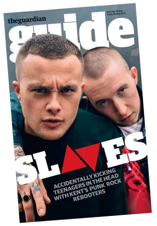 Slaves cover feature for Guardian Guide