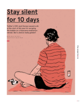 The experience: Stay silent for 10days