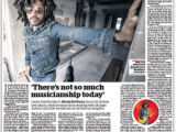 Lenny Kravitz: 'There's not so much musicianshiptoday'